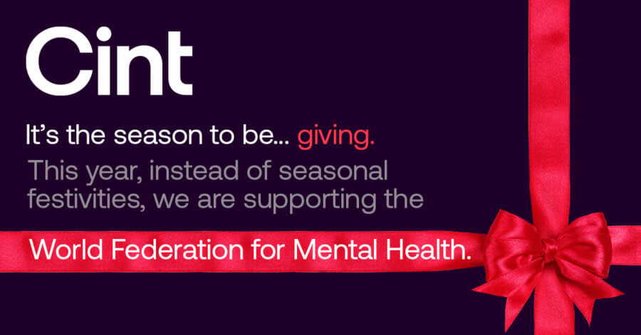 Cint donates to the World Federation for Mental Health