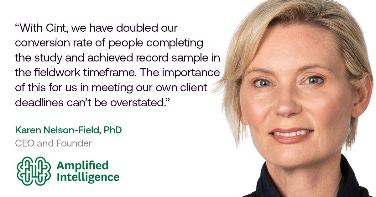 Cint Amplified Intelligence Interview - Karen Nelson-Field PhD